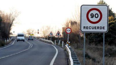 Exceso de velocidad en vías convencionales